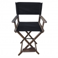 Режиссерский стул высокий, лак цвет кедр(кресло режиссера, ясень)