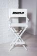 Режиссерский стул высокий, Белый (кресло режиссера, ясень)
