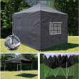 Быстросборный шатер-гармошка 2х3 черного цвета