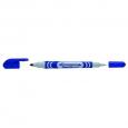 Маркер перманентный PENTEL N65W-C для CD/DVD, двусторонний, 1.0-3.5 мм, синий