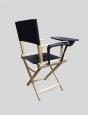 Кресло режиссера складное (стул - низкий) массив ясеня - ясень натуральный, со столиком пюпитром