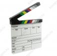 Кинохлопушка профессиональная, акриловая, на английском языке с цветными планками