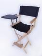 Кресло режиссера складное,цвет натуральный (высокий стул с пюпитром