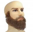 Борода  полная с усами, профессиональная, накладная, с усами 2 (натуральный волос)