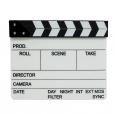 Кинохлопушка ч/б акриловая (278ммх235мм), англ. текст