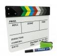 Кинохлопушка цветная акриловая (296ммх240мм), англ. текст