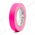 Тейп PRO-GAFF флуоресцентный розовый на тканевой основе  24мм х 22.86м