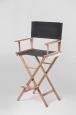 Кресло режиссера складное (стул высокий, массив ясень) цвет ясень натуральный
