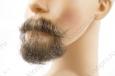 Борода малая c усами, профессиональная, накладная с усами (натуральный волос)