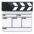 Кинохлопушка ч/б акриловая малая (152ммх105мм), англ. текст