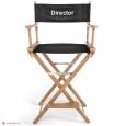 Кресло режиссера складное (стул режиссера высокий, массив дуба или граба) цвет натуральный
