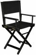 Кресло режиссера складное (стул - низкий) массив ясеня, цвет черный лак