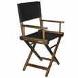Кресло режиссера складное, цвет кедр, (стул низкий) массив ясеня